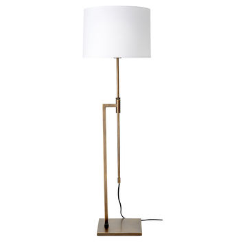O'Neil Floor Lamp, Vintage Brass, Floor Lamps