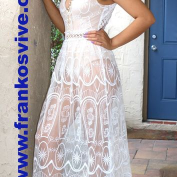 Seductive White Evening Dress