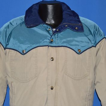 80s Goose Filled Western Style Ski Jacket Small