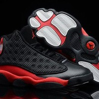 DCCKL8A Jacklish Girls Air Jordan 13 Retro Gs Black And Red Womens Size On Sale