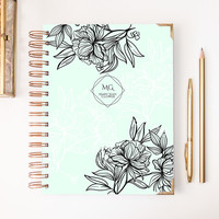 2018 Classic Planner – Monogrammed Mint