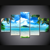Cabana Blue 5-Piece Wall Art Canvas