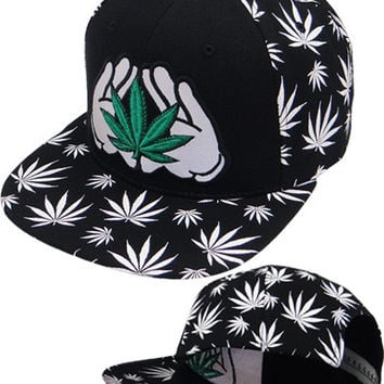 * Marihuana Reflect Snapback In Black/White
