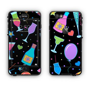 The Neon Party Drinks Apple iPhone 6 Plus LifeProof Nuud Case Skin Set