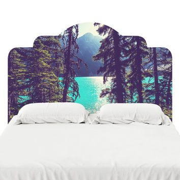 Lake Joffre Through the Trees Headboard Decal
