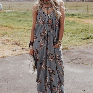 Love To Love You Floral Pocket Maxi Dress