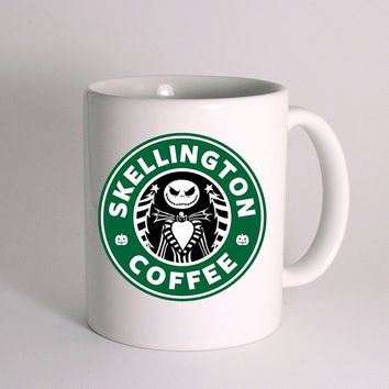 Nightmare ,Before Christmas Jack skellington Starbucks for Mug Design