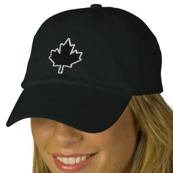 Canadian Embroidery Embroidered Maple Leaf Embroidered Hat | Zazzle