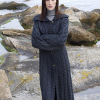 Irish Full Length Cable Knit Coat