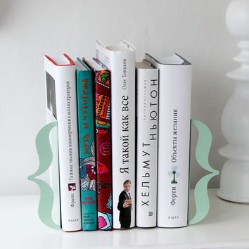 Bookends Brackets mint green for home or by DesignAtelierArticle