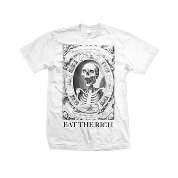 "Unisex Cotton T Shirt - ""Eat The Rich"" White"