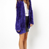 Furry Long Sleeve Coat