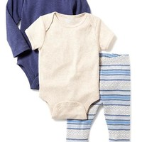 Bodysuit & Pant 3-Pack for Baby | Old Navy
