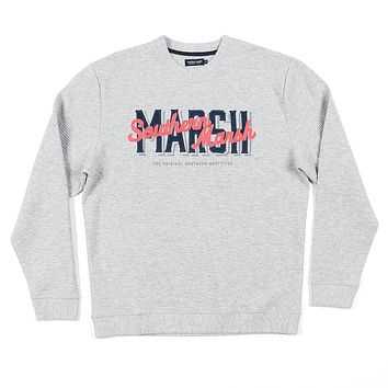 Hyannis Ridged Sweatshirt in Light Gray by Southern Marsh