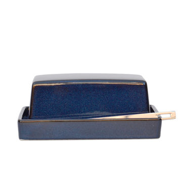Jeans Blue Butter Dish