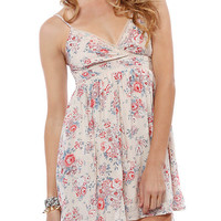 Papaya Clothing Online :: FLORAL PRINT LACE TRIM DRESS