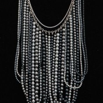 Chan Luu Multi Strand Grey Pearl Necklace