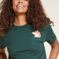 The Fox That Counts Graphic Pocket Tee