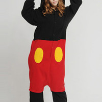 Micky Mouse Adult Character Kigurumi Onesuit