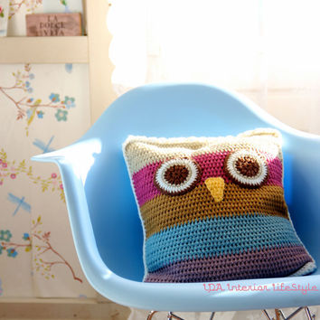 Cushowl (owl crochet cushion cover)