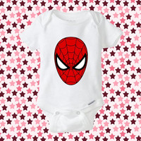 Spiderman Face- baby shirt Onesuit, Spiderman Face baby Onesuit, Baby Onesuits Die Cuts, Baby Clothing, Onesuit baby, cute Onesuit