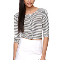 LA Hearts Covered Button Cropped Top at PacSun.com