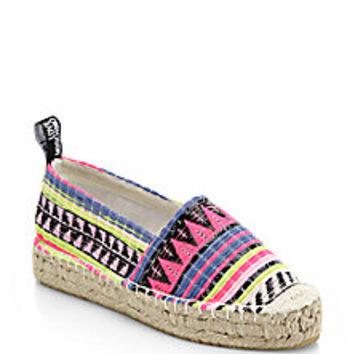 Love Moschino - Woven-Stripe Espadrilles - Saks Fifth Avenue Mobile