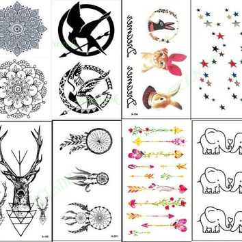 Waterproof Temporary Tattoo Sticker mandala deer elk antler Game of Thrones dreamcatcher arrow tatto flash tatoo fake tattoo