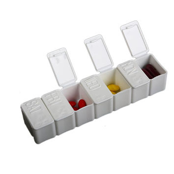 White 7 Day Weekly Tablet Pill Holder Medicine Storage Organizer Container Hot