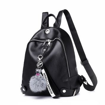 Student Backpack Children New Stylish Ladies Shoulder Bag Soft PU Leather Fashion Trendy Middle School Student Backpack AT_49_3