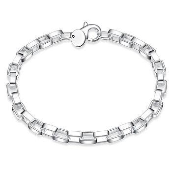 KJ Bracelet Fashion Jewelry Silver Box Designed Bracelet