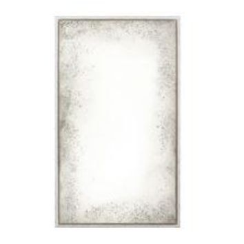 Rustic White Antiqued Floated Mirror