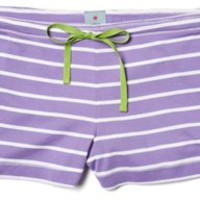 Favorite Ribbed Shortie, Violet/White, Pajamas