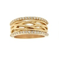 3/8ct tw Diamond Fashion Ring in 14K Yellow Gold - Jewelry & Gifts