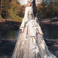 Victorian silk gown to rent-Photo-prop-styled shoots-vintage-Elana