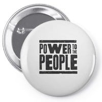 power to the people Pin-back button