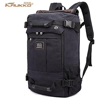 KAUKKO 2017 High capacity Laptop School Large Capacity Men's Backpack Canvas Weekend Bags Multifunctional Travel Bags K1027