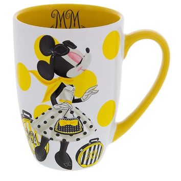 Disney Parks Minnie Mouse Signature Ceramic Mug New