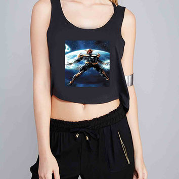 marvel nova for Crop Tank Girls S, M, L, XL, XXL *07*