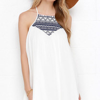 Jack by BB Dakota Bronwen Ivory Embroidered Dress