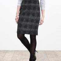 Banana Republic Womens Plaid Pencil Skirt