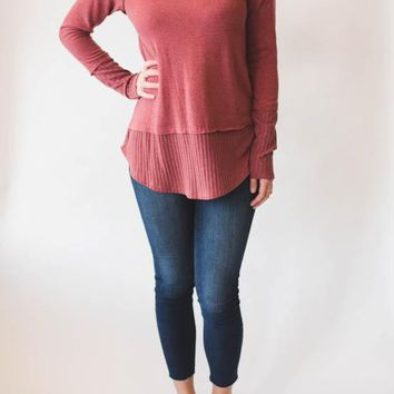 V-neck Sweater - Red