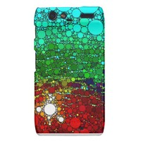 Green and red bubble Droid Razr Back Droid RAZR Case from Zazzle.com