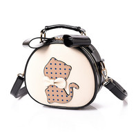 Cute Mini Bow Dots Cat Shoulder Bag