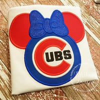 Custom Cubs embroidered Mouse Vacation Shirt for the Family! 879 girl