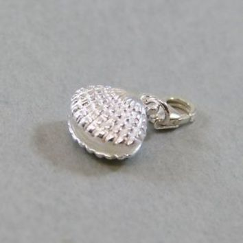 925 Sterling Silver Clip On Charm Nautical Open Seashell Fit For Bracelet New