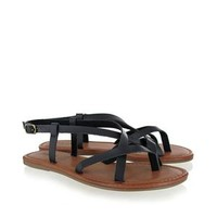 Mia Shoes Cruise Strappy Sandals in Black