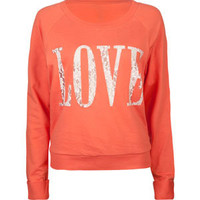 FULL TILT Love Lace Womens Sweatshirt