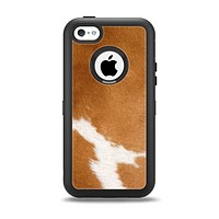 The Real Brown Cow Coat Texture Apple iPhone 5c Otterbox Defender Case Skin Set