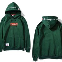 PEAPGZ9 Supreme & Champion 3 Colors Hoodies Embroidery Sweatershirt [105073213452]